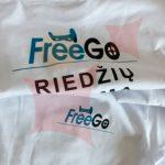 marškinėliai su uždėtu šilkografiniu užrašu