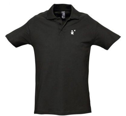 užrašų uždėjimas ant polo marškinėlių priekyje širdies plote