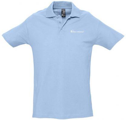 užrašų uždėjimas ant polo marškinėlių